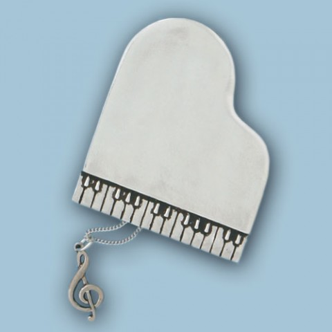 Piano Wish Box w/Treble Clef Necklace