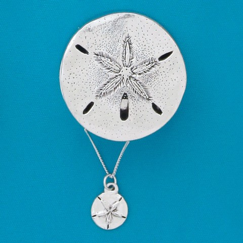 Sanddollar Wish Box w/sanddollar Necklace