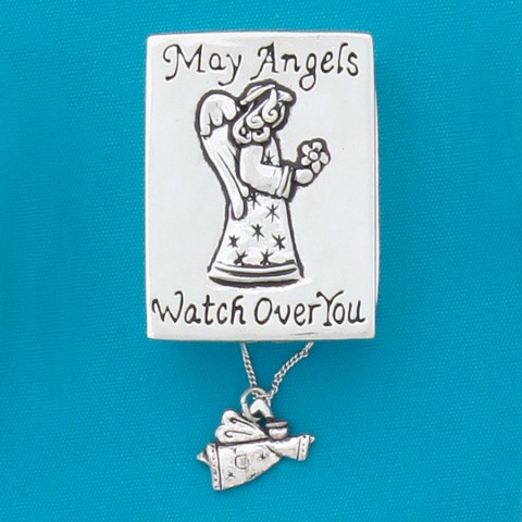 May Angels Wish Box/Angel Necklace