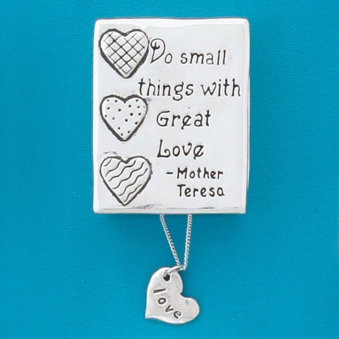 Small Things Wish Box w/Love Heart Necklace
