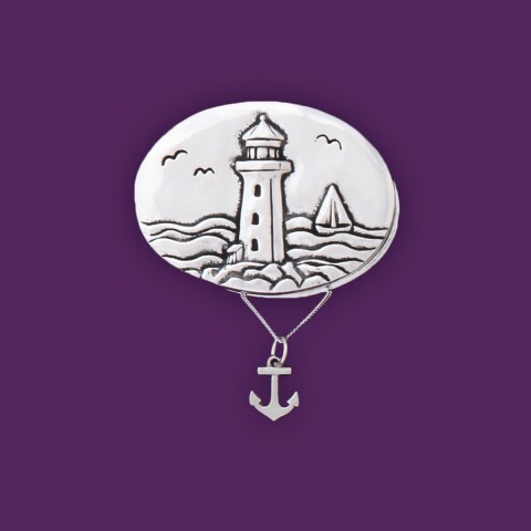 Lighthouse w/Anchor Necklace